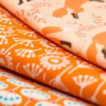 365-Tage/ 52-Wochen-Regenbogenquilt: #7 orange