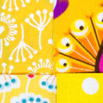 365-Tage/ 52-Wochen-Regenbogenquilt: #13/#14 gelb