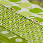 365-Tage/ 52-Wochen-Regenbogenquilt: #18/ #19/ #20 grün