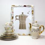 Porzellanscherben-Bilderrahmen mit Espressoliebe (DIY-Bastelanleitung)