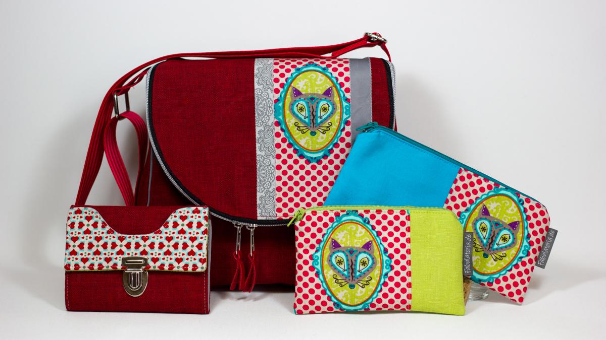 Taschenspieler 3 Sew-Along – Zirkeltasche/ FloraFox Taschen-Set