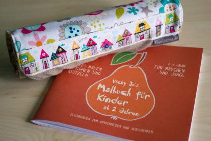 Kunterbunte Stifterolle und Vicky Bo's Malbuch ab 2 Jahre