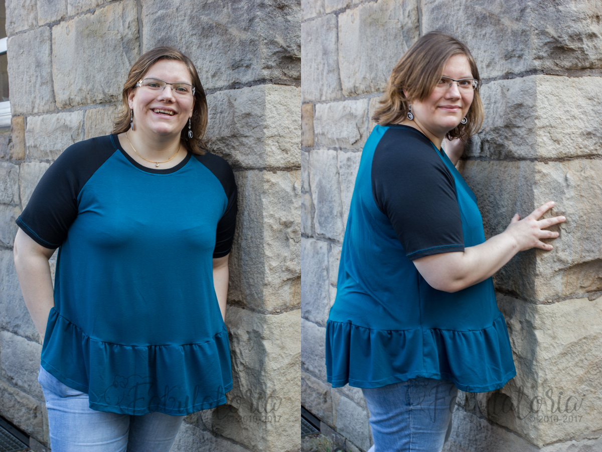 Women's Waterfall Raglan trifft Donna Sofia