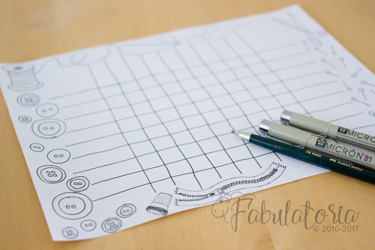Kampf dem Knoten im Kopf – Schnittmuster-Tabelle zum ausdrucken