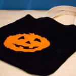 Ein schneller Kürbisbeutel zu Halloween (Nähanleitung)